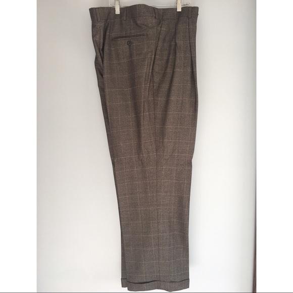 b621199c Men's brown plaid dress pants